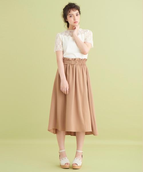 通勤服としても◎フレアスカートで今年の夏は少し上品に!
