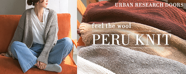 URBAN RESEARCH DOORS PERU KNIT