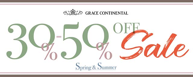 GRACE CONTINENTAL SUMMER SALEスタート!