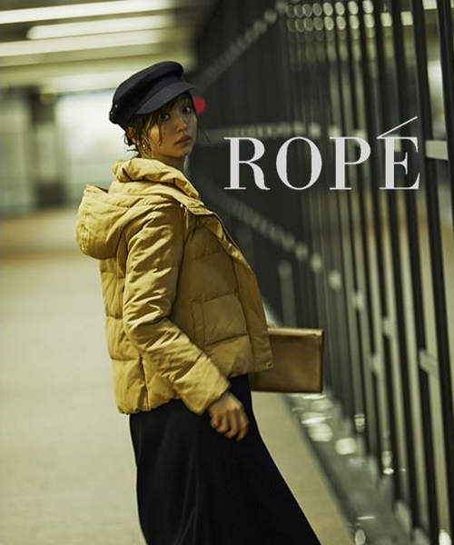 そろそろ寒さも本格的に..!シルエットも暖かさも満足するROPÉのダウンコートをお見逃しなく。