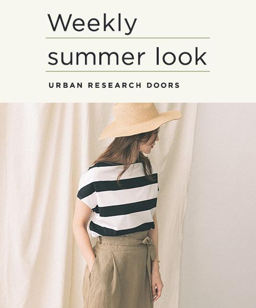 夏本番!DOORSらしいリラックス感のあるアイテムを使ったサマースタイリングをご紹介します。
